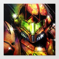 samus Canvas Prints featuring Samus by Vincent Vernacatola
