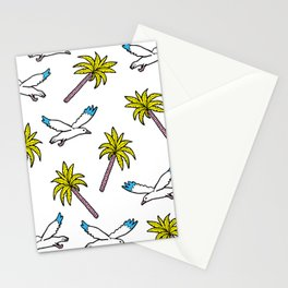 seagulls and palm trees Stationery Cards