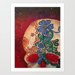 SUGAR SKULL Dia de los Muertos Art Print