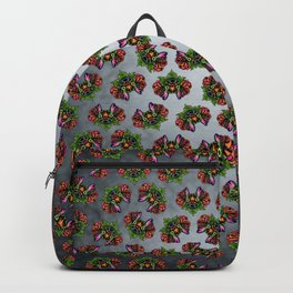 French Bulldog in Black - Day of the Dead Bulldog Sugar Skull Dog Backpack