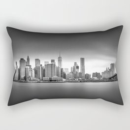 Monochrome panorama of Manhattan Rectangular Pillow