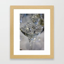 Glass of crystals Framed Art Print