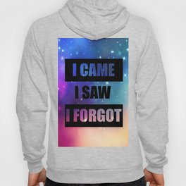 i came isaw i forgot funny quote Hoody