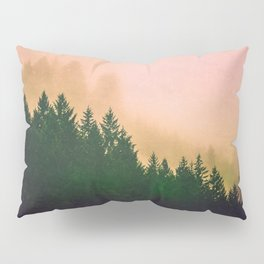 Cascadia Green Trees and Sunset Pillow Sham
