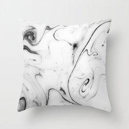 Elegant white marble image Throw Pillow