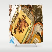 ace Shower Curtains featuring Ace by Global Graphiti