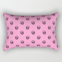 Pink Skull Pattern Rectangular Pillow