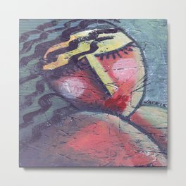 Dreamy Abstract Portrait of a Woman Metal Print