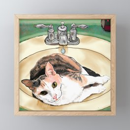 Catrina in the Sink Framed Mini Art Print