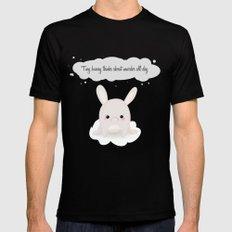 tiny bunny Black MEDIUM Mens Fitted Tee