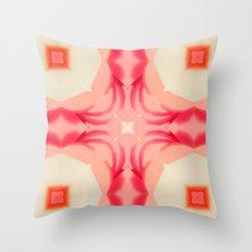 Pink Yams Throw Pillow