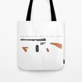 Thompson Machine Gun Tote Bag
