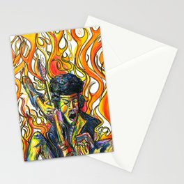 Rock and Flames Stationery Cards