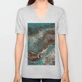 Water Flow, Abstract Acrylic Flow Art Unisex V-Neck