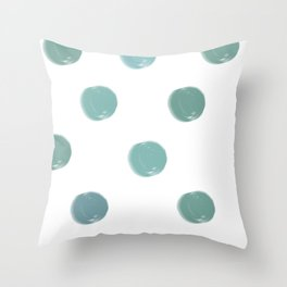 Abstract Modern Art 5 Teal Spots Throw Pillow