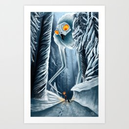In the Snow  Art Print