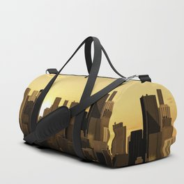 Sunrise-sunset city panorama Duffle Bag