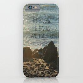 The Ocean is Calling iPhone Case