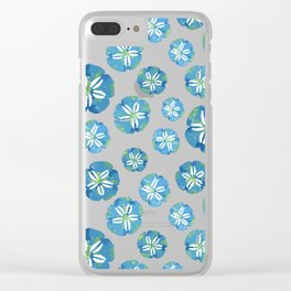 Blue Sand Dollars Clear iPhone Case