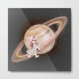 Lost in a Space / Saturnesse Metal Print
