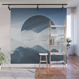 High mountain in morning time Wall Mural