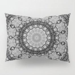 Black and White Lace Mandala A541B Pillow Sham