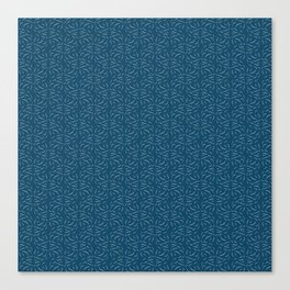 Swirled - Deep Teal Canvas Print