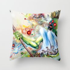 Architect of Prehysterical Myth Throw Pillow