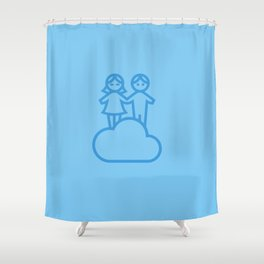 Couple in the clouds Shower Curtain
