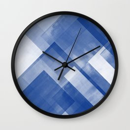 Untitled No. 8   Blue + White Wall Clock