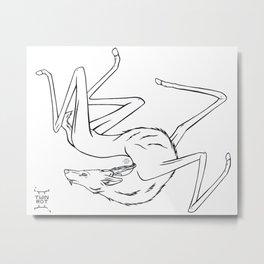 Stilted Deer Metal Print