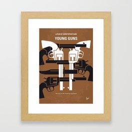 No916 My YoungGuns minimal movie poster Framed Art Print