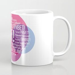 """The words """"Hi"""" compound in the form of a bubble talk in the languages of European countries Coffee Mug"""