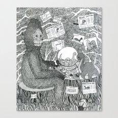 Black and White Sasquatch Canvas Print