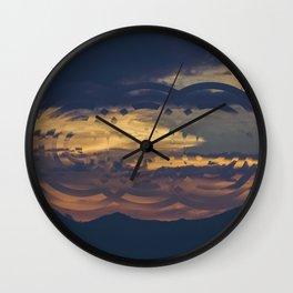 paisaje intervenido2 Wall Clock