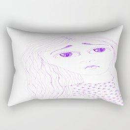 purple sadness2 Rectangular Pillow