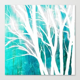 Teal Forests Canvas Print