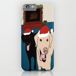 Labs Love Christmas! iPhone Case