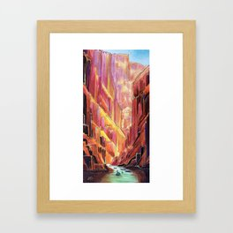 Grand Canyon Rig to Flip Framed Art Print