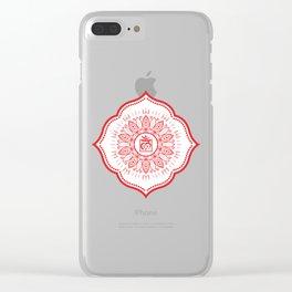 Root Chakra Mandala #04 Clear iPhone Case