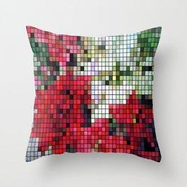 Mixed color Poinsettias 1 Mosaic Throw Pillow