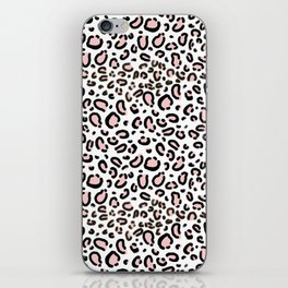 Leopard print rose quartz pantone color minimal animal print cute children pattern cheetah spots  iPhone Skin