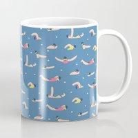swimming Mugs featuring Swimming by Sara Maese