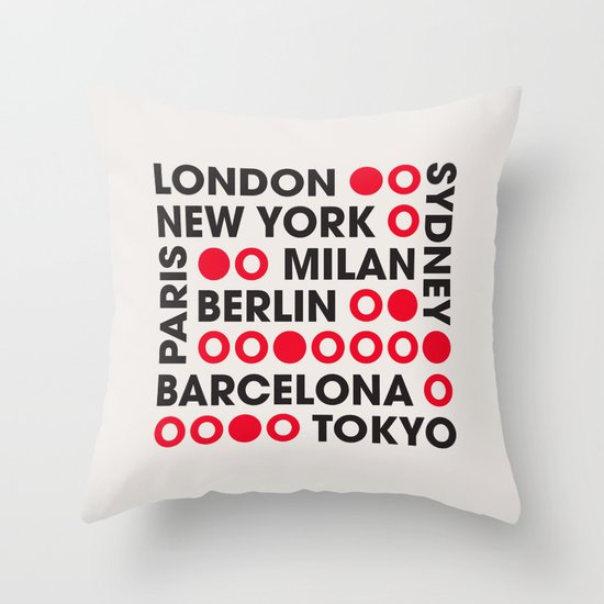 I Love This City Typography Throw Pillow