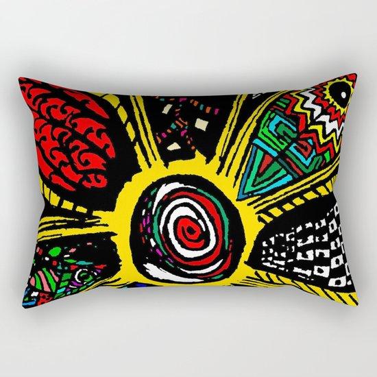 Patchwork Hippy Flower Rectangular Pillow
