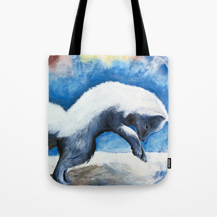 Animal - Antoine the Artic Fox - by LiliFlore Tote Bag