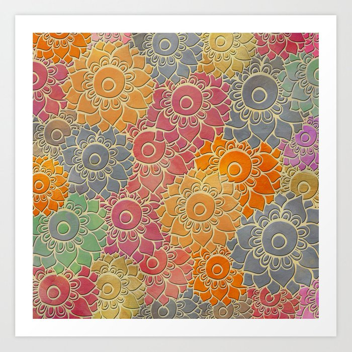 Flower Pattern 2 Art Print