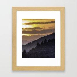 Valley Sunset Framed Art Print