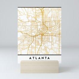 ATLANTA GEORGIA CITY STREET MAP ART Mini Art Print