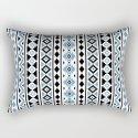 Aztec Essence Pattern II Light Blue Black White by nataliepaskell
